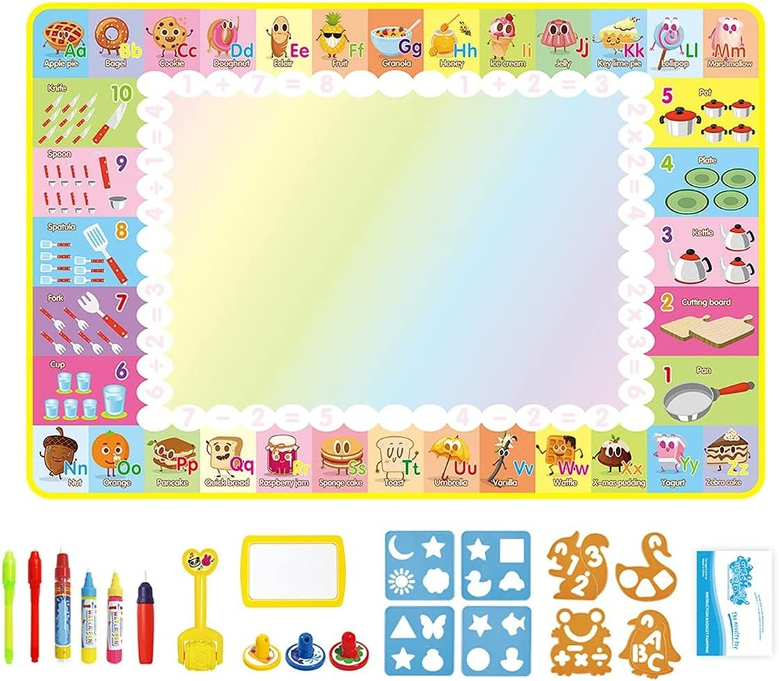 zhezuo Kids Water Doodle Drawing Finally resale start Mat Surprise price Fluores Magic Gift with Toy