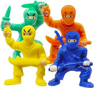 Fun Central BA042, 20 Pcs, 1.5 Inches Assorted Solid Color Ninja Toy Figures, Ninja Action Figure, Ninja Figures, Ninja Wa...