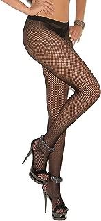 Women's Fishnet Pantyhose with Rhinestone Back Seam