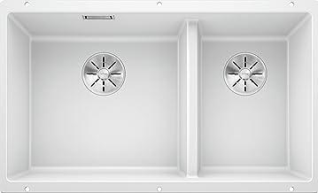 BLANCO SUBLINE 430/270-U - onderbouw dubbele spoelbak voor de keuken voor 80 cm brede onderkasten - van zilver grait - wit...