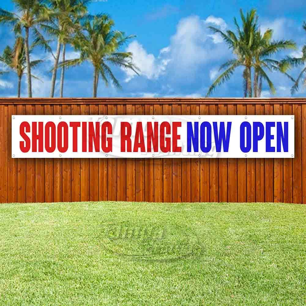 Shooting Range Now Open Extra Large 13 oz Banner Heavy-Duty Vinyl Single-Sided with Metal Grommets
