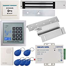 UHPPOTE Full Complete 125KHz RFID Card Inswinging Door Access Control Kit Including 600lbs Force Electric Magnetic Lock, M...
