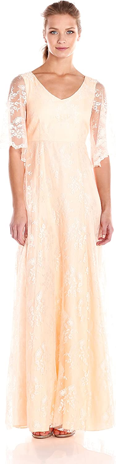 women Morgan Women's Lace Gown with Sleeve