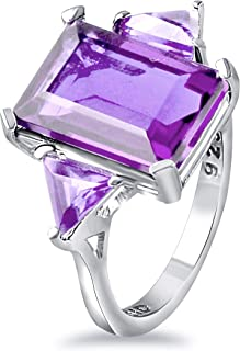 Orchid Jewelry Silver Rings For Women | 925 Sterling Silver Halo Ring Birthstone Gemstone | Fashion Jewellery Cute Bridal ...
