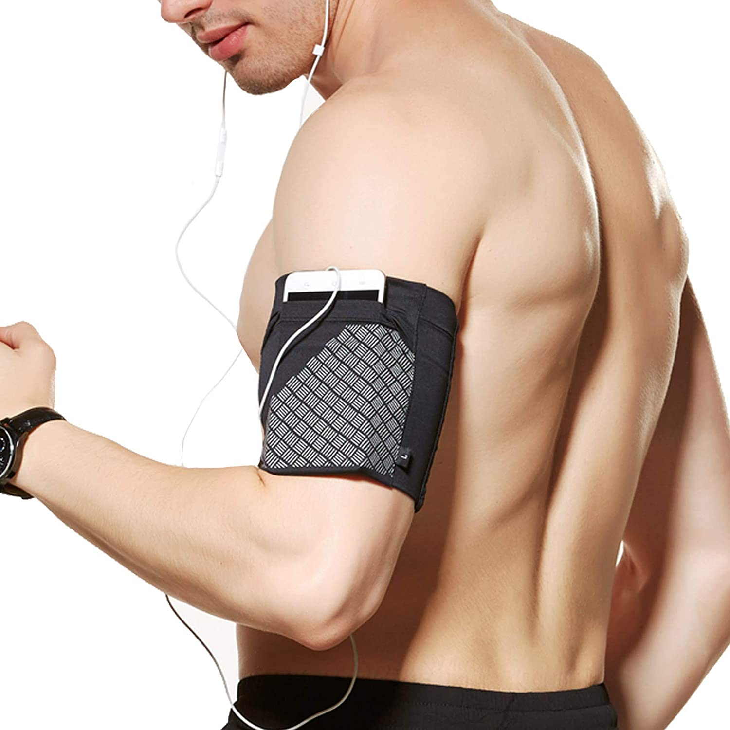 Ailzos Cell Phone Armband for Running, Universal Sports Armband for Phones Under 6