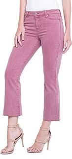 Liverpool Women's Hannah Crop Flare in Slub Stretch Twill Jeans