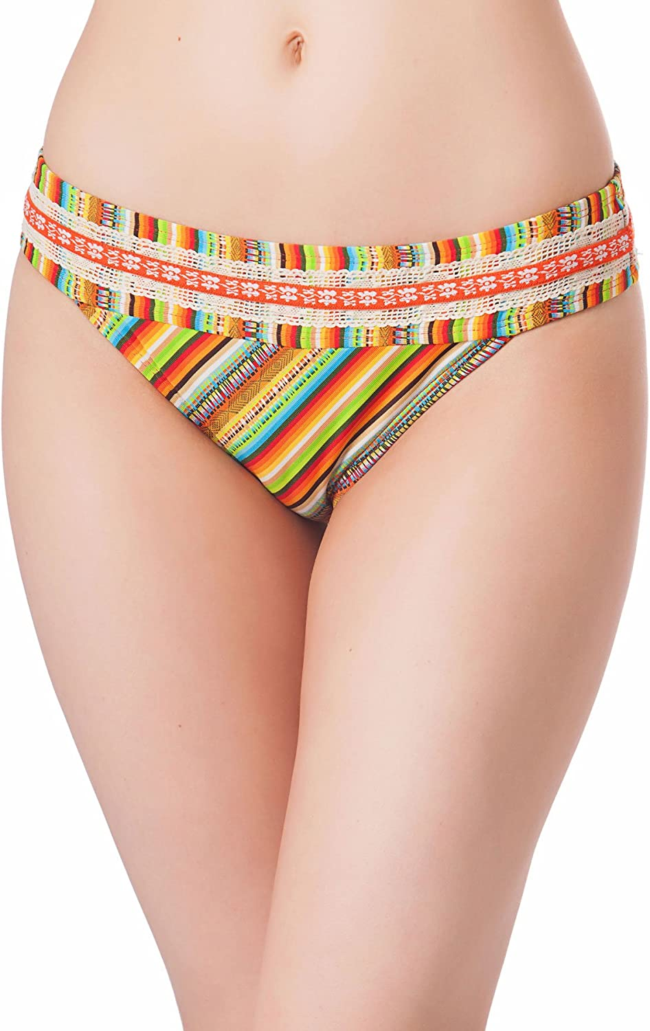 Lucky Brand Womens Selling and selling Striped Bikini Swim Bottom Deluxe