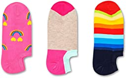 3-Pack Happy Rainbow Sneaker Liner