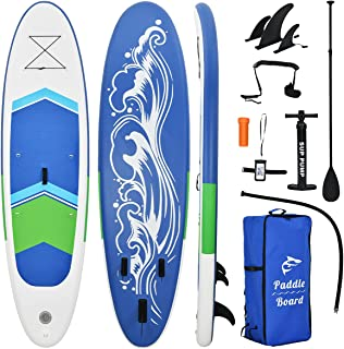 BONSPO Inflatable Stand Up Paddle Board with Premium Free Sup Accessories,Travel Backpack,Paddle,Leash,Hand Pump,Waterproo...