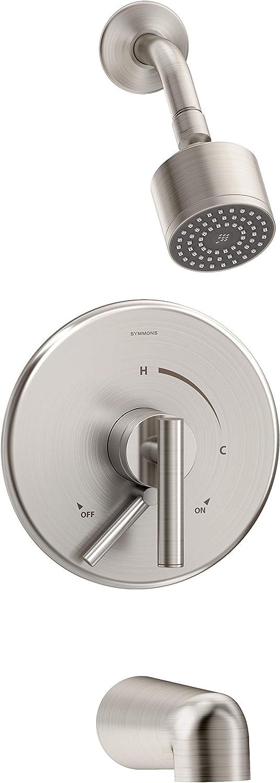 Symmons S-3502-CYL-STN-1.5-TRM Dia Tub Shower Trim Satin Nickel