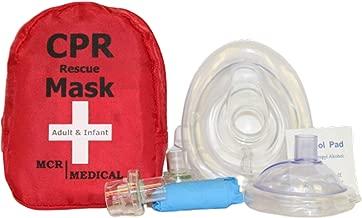 Adult & Infant CPR Mask Combo Kit with 2 Valves, MCR Medical