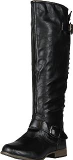 حذاء برقبة لركوب الخيل للنساء بعبارة Legend-24، أسود، 7. 5