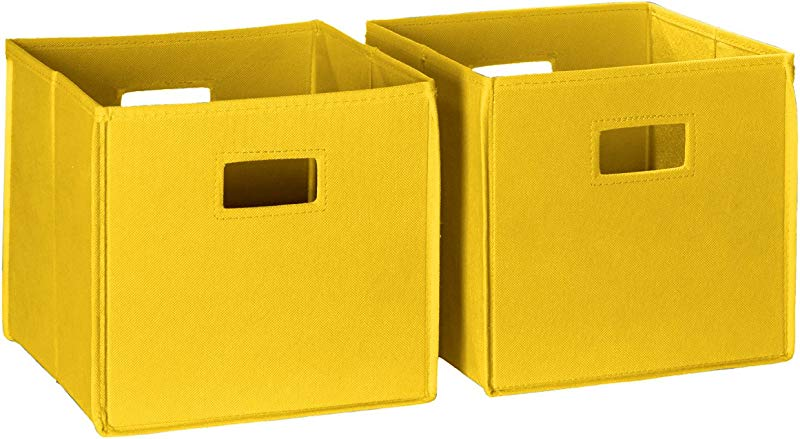 RiverRidge 2 Piece Folding Storage Bin Set Yellow