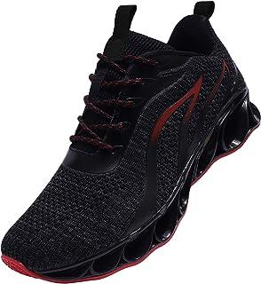 [メイゼロ] スニーカー メンズ ランニングシューズ ウォーキングシューズ 運動靴 スポーツ クッション性 トレーニングシューズ 通気 軽量 通学通勤 日常着用 ブラック 黒い 28cm