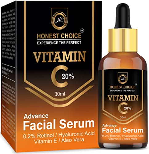 Honest Choice Vitamin c Serum 30 ml with Retinol n Hyaluronic acid For face,Anti Ageing, Brightening n Whitening Serum For Men n Women Face product image