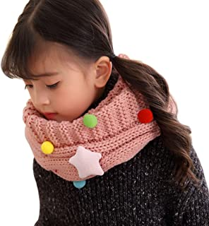 Ruikey Children Scarf Cute Cherry Printing Scarves Autumn Winter Warm Scarf for Girls