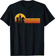 Vintage Chess Player Retro Sunset Design Chess Pieces T-Shirt