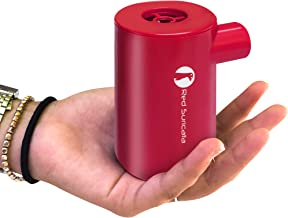 Red Suricata Rechargeable Air Pump – Mini Electric Air Pump for Inflatables – Air Mattress Pump – USB Battery Powered & Operated Portable Air Pump for Air Sofa, Pool Float & Airbed (NOT for Balloons)