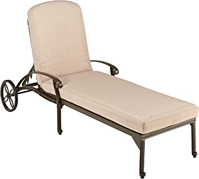 Home Styles 5559-83 Floral Blossom Taupe Chaise Lounge Chair