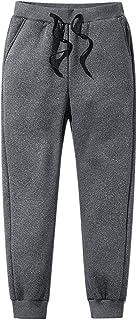 iSunday -30degC - Pantaloni termici da uomo in pile, foderati in pile spesso, casual, per sport, inverno, autunno