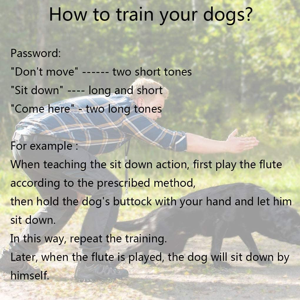 Whistle Dog Tracker Professional Silent Dog Whistle Training Control Tool with Black Strap Lanyard 2 Pack Dog Whistle Adjustable Pitch Ultrasonic Dog Whistles to Stop Barking for Recall Training