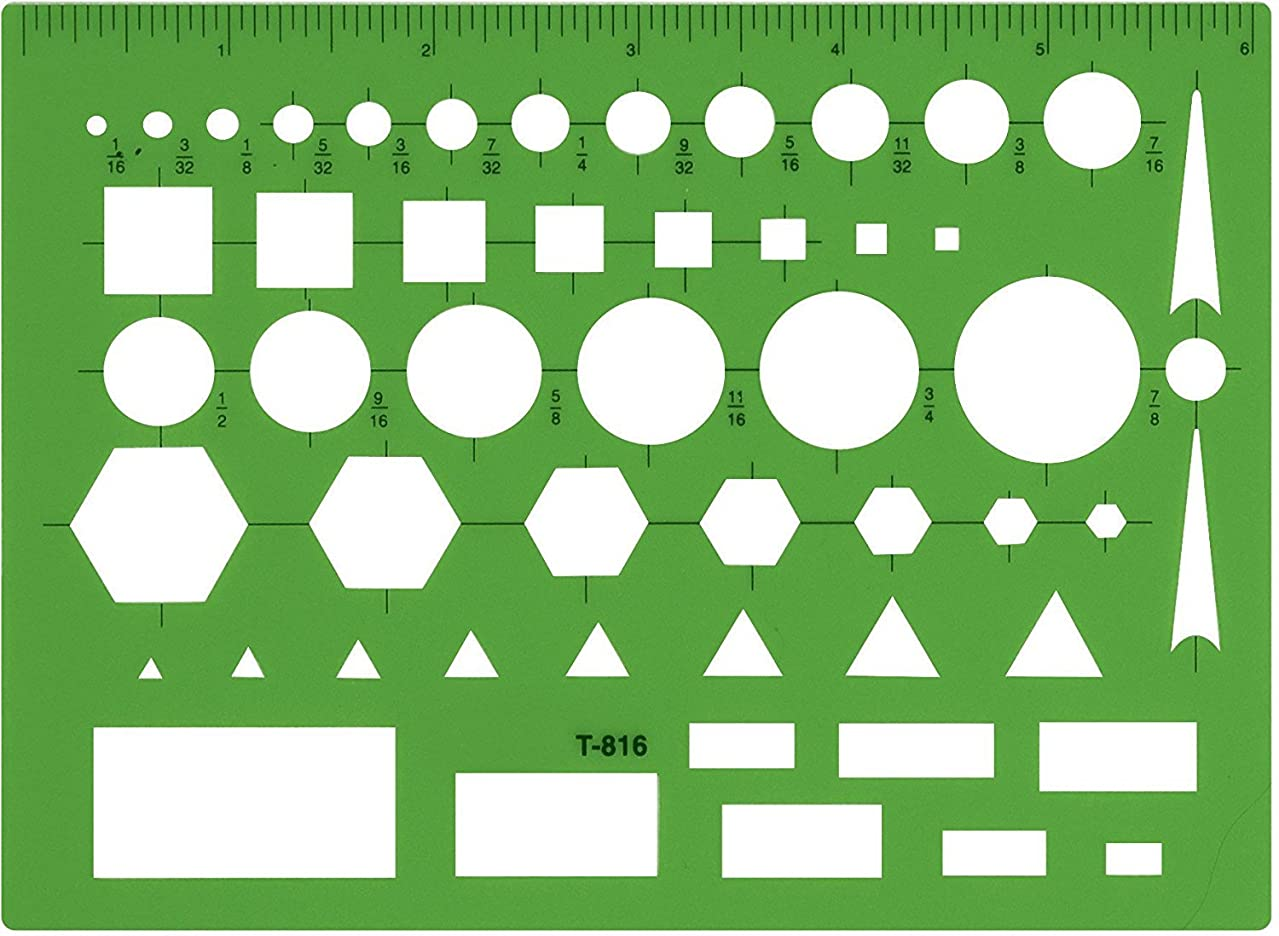 Westcott Technical Drawing Template, Case of 144 (500-T-816)