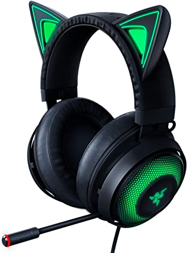 Razer Kraken Kitty RGB USB Gaming Headset: THX 7.1 Spatial Surround Sound - Chroma RGB Lighting - Retractable Active ...