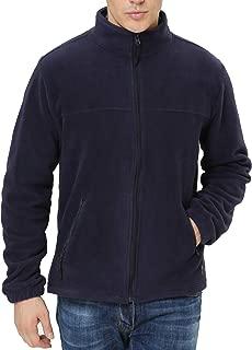 iloveSIA Men's Fleece Jacket Full Front Zip Casual Lightweight Polar Jacket