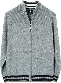 TAM WARE Men's Casual Contrast Lines Zip-up Sweater Cardigan
