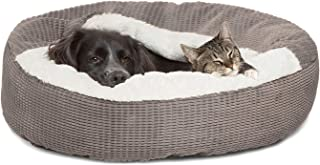 Best Friends by Sheri Cozy Cuddler Luxury Orthopedic Dog and Cat Bed with Hooded Blanket for Warmth and Security - Machine...
