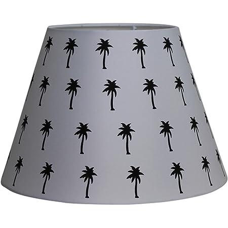 Abat-jours différents motifs en noir/blanc 17 x 30 x 20 cm (palmier).