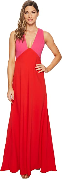 JILL JILL STUART - Two-Tone Gown with V-Neck