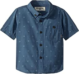 All Day Jacquard Short Sleeve Shirt (Toddler/Little Kids)