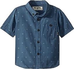 All Day Jacquard Short Sleeve Shirt (Toddler/Little Kids)