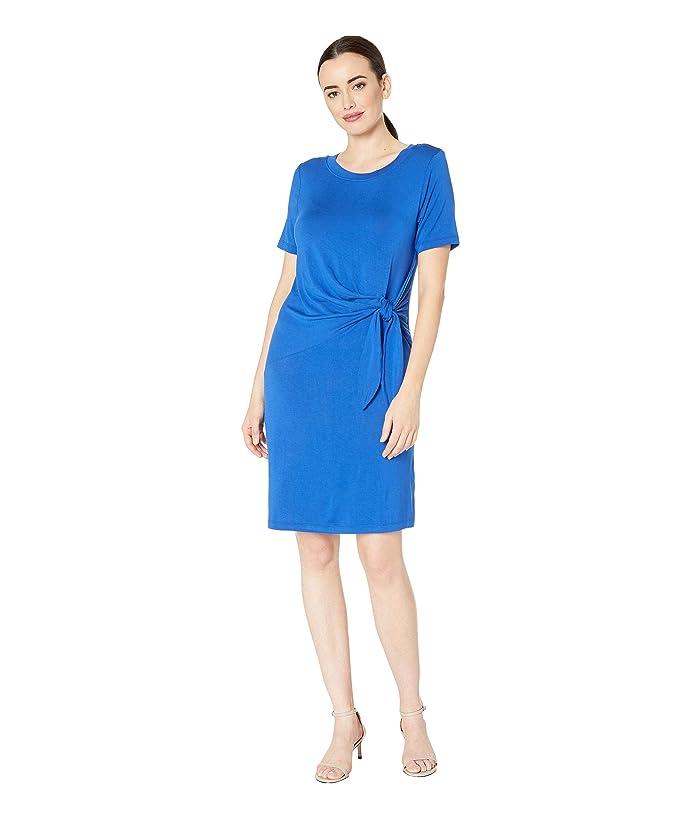 Tribal Jersey Short Sleeve Tie Dress (True Blue) Women