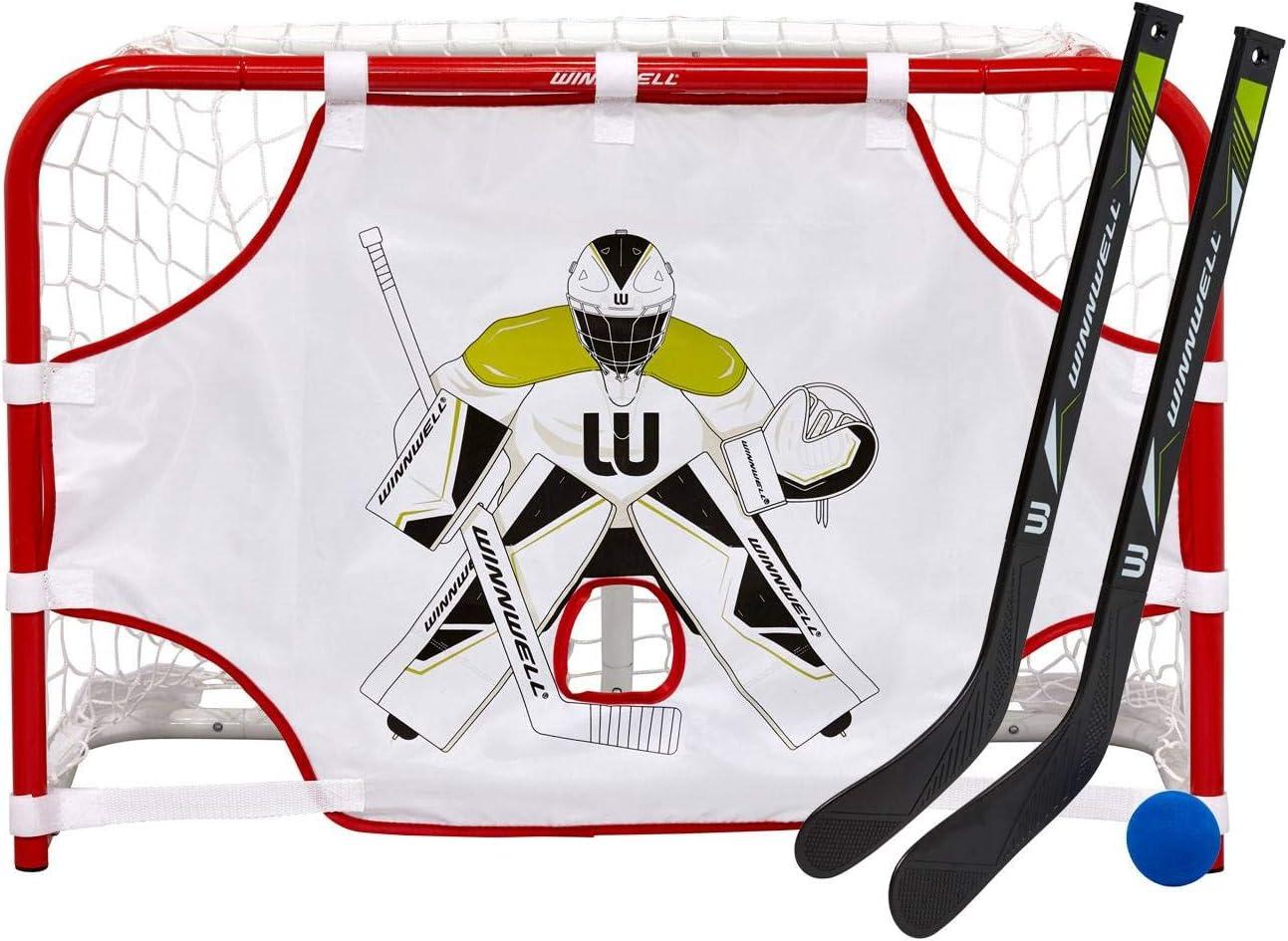 Winnwell タイムセール Mini Hockey Goal Set 本日の目玉 With EVA Sticks 1 2 RH LH