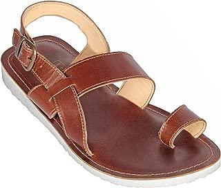 tZaro Super Light Genuine Leather Sandals - Glator (Tan),HB1906TNWH