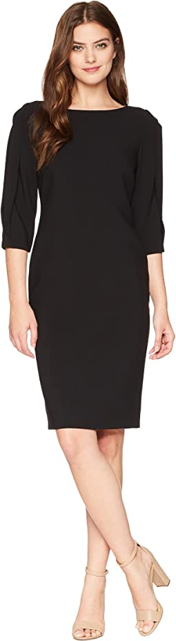 Tahari by ASL Slit Sleeve Sheath Dress