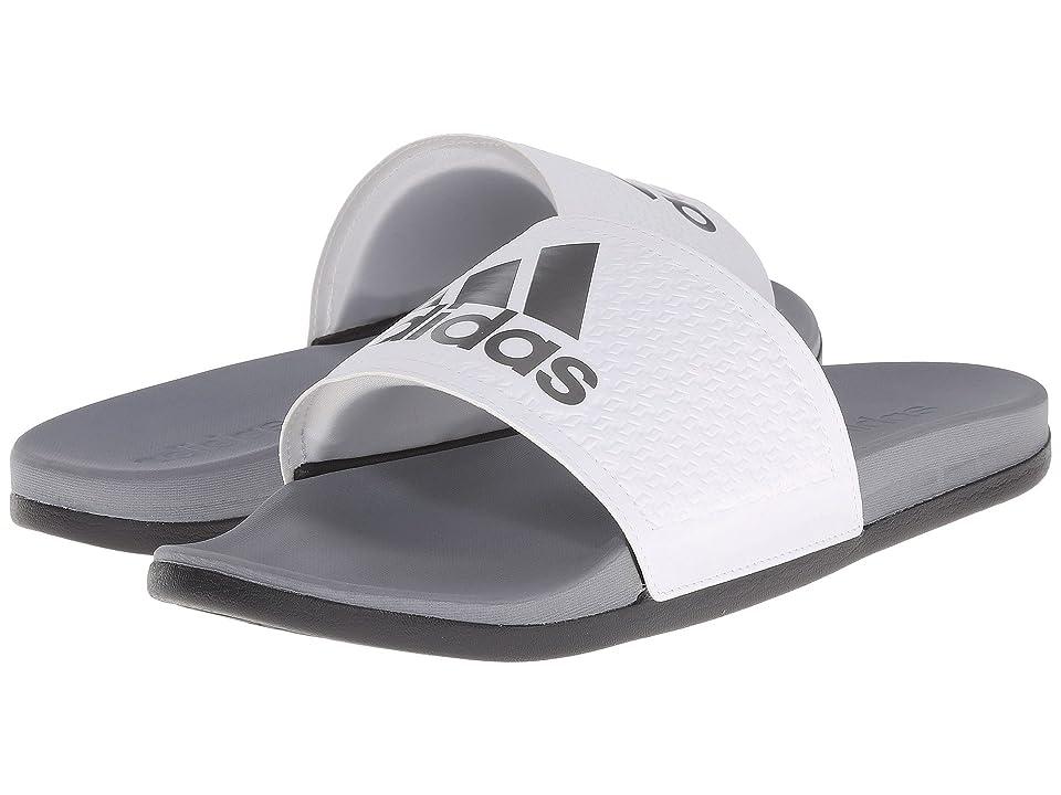 adidas Adilette CF+ C (White/Iron Metallic/Vista Grey) Men