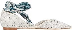 Bright White/Blue Multi Basket Weave Leather/Striped Tie-Dye Dre