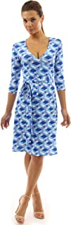 PattyBoutik Women Faux Wrap A Line Dress