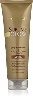 L'Oreal Paris Sublime Glow Daily Moisturizer and Natural Skin Tone Enhancer, Medium Skin Tones, 8 fl. oz.