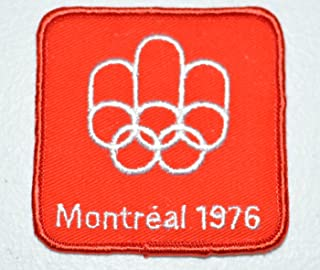 Montreal 1976 Summer Olympic Games Red Souvenir Crest Sew-on Embroidered Applique