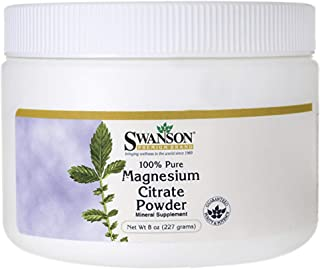 Swanson 100% Pure Magnesium Citrate Powder - Unflavored 630 mg 8.6 oz Pwdr