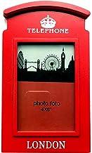 Cadre Photo en bois 6X4 Pouce Rouge Publique Londres Booth Boite Boîte Souvenir Britannique Cadeau