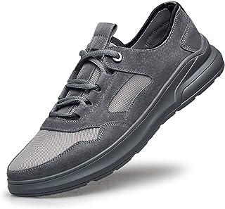 Zapatos casuales Zapatos deportivos para hombres, zapatos de cordones al aire libre de gamuza, para redes de grifos portát...