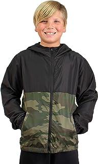 Global Boys Windbreaker Jacket Hooded Water Resistant Soft Shell Coat for Kids