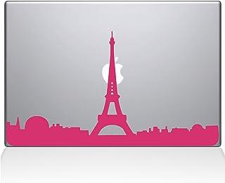 "The Decal Guru 2070-MAC-15X-BG Paris City Skyline Decal Vinyl Sticker, 15"" Macbook Pro (2016 & newer), Pink"
