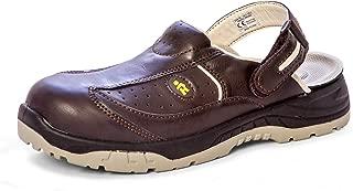 6 UK EuroRoutier Premium Carbon Safety Shoes Clog Leather Womens Black