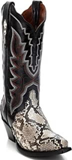 Women's Natural Python Triad Cowgirl Boot Snip Toe